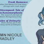 Autumn Bradley banner Trash Romance, Parts: A Steampunk Tale of Love and Mechanomorphosis, Tales of Delmyria